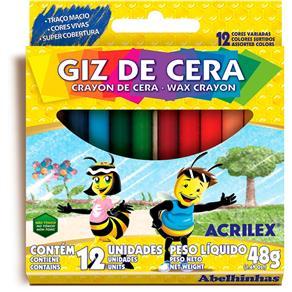 Giz de Cera 12 Cores 09012 Acrilex
