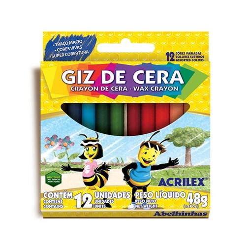 Giz de Cera 12 Cores Acrilex 48g
