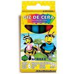 Giz de Cera 6 Cores Acrilex