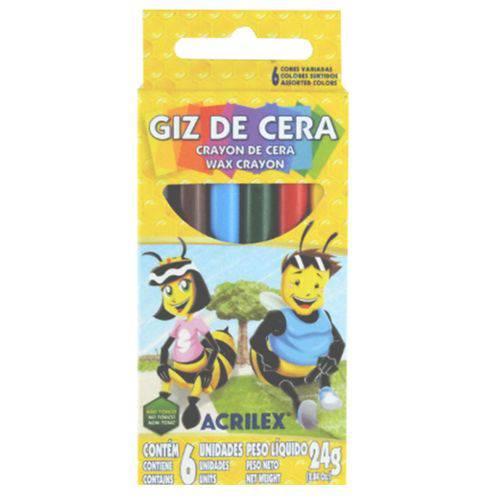 Giz de Cera Acrilex 006 Cores 09006