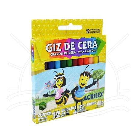 Giz de Cera Acrilex - 12 Cores