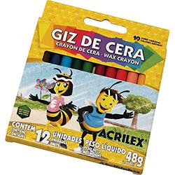 Giz de Cera Acrilex 12 Cores