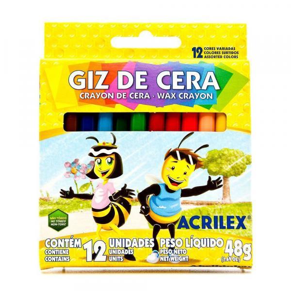Giz de Cera C/12 Cores Acrilex