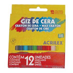Giz de Cera com 12 Cores 48 Gr Acrilex
