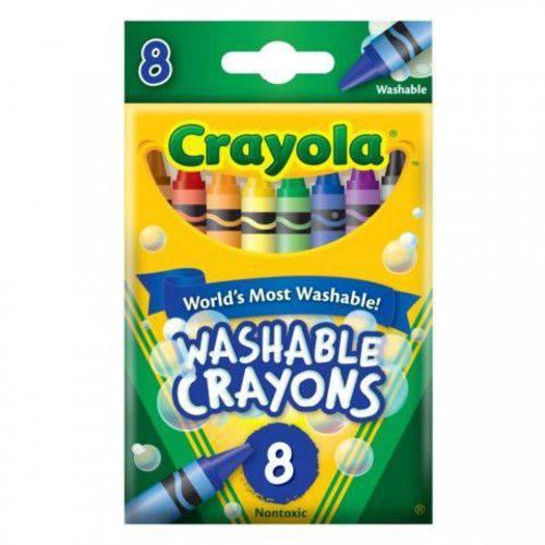 Tudo sobre 'Giz de Cera Lavável 8 Cores Crayola'