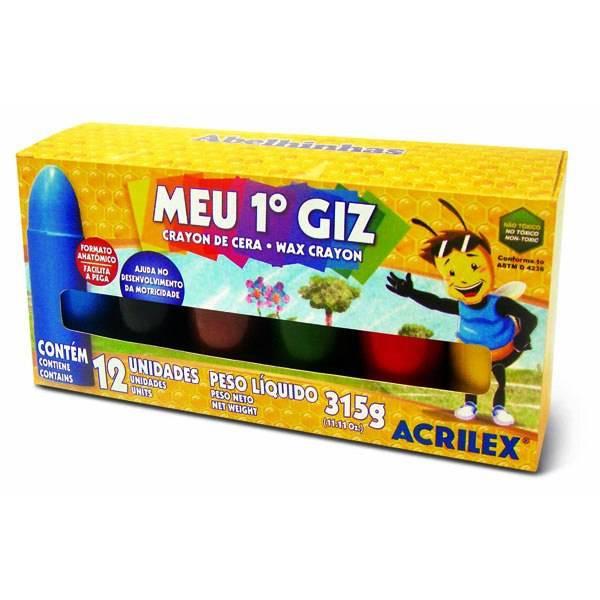 Giz de Cera Meu 1 Giz Acrilex C/ 12 Cores 09512