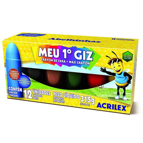 Giz de Cera - Meu Primeiro Giz de Cera - 12 Cores - Acrilex