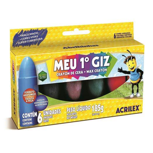 Gizao de Cera Meu 1º Giz 6 Cores 09506 Acrilex