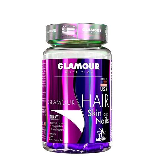 Tudo sobre 'Glamour Hair Skin And Nails 60caps Midway'