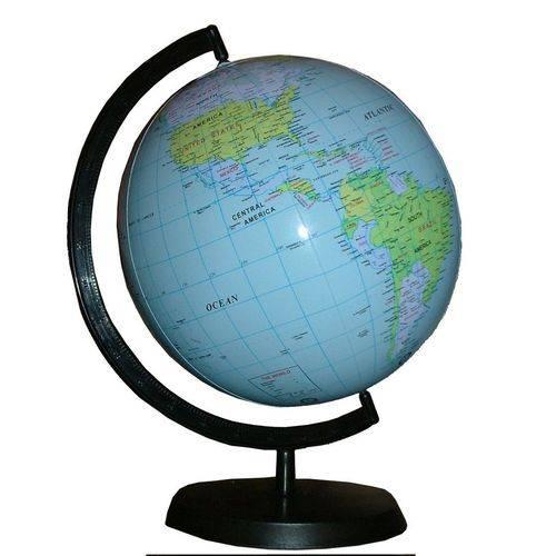 Tudo sobre 'Globo Terrestre Inflável 36 Cm Planisferio Mapa Miniatura'