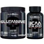 Glutamina + Bcaa 2400 - Black Skull