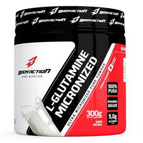 Glutamina L-Glutamine Micronized - Body Action - Natural - 300 G