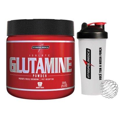 Glutamine 300 G + Coqueteleira -IntegralMédica