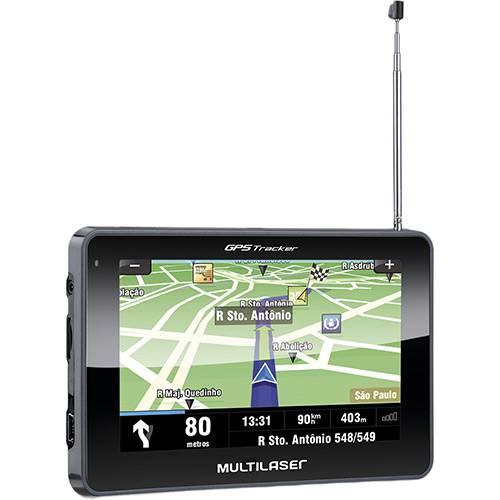 "GPS Automotivo Multilaser Tracker II Tela 4,3"" Slim Touchscreen"