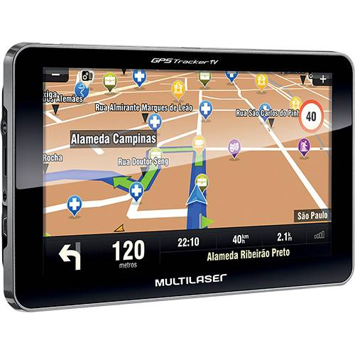 Tudo sobre 'GPS Automotivo Multilaser Tracker III Tela 7' com TV Digital'