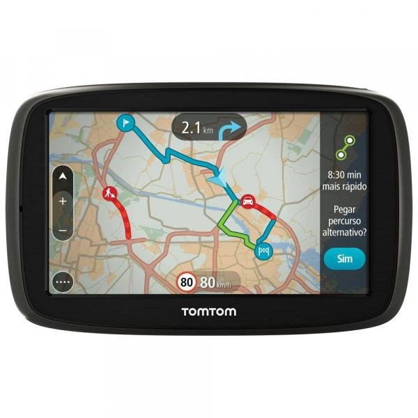 """GPS Automotivo TomTom GO 60B com Mapa Mundo, Tela 6"""" com Alerta de Radar e Leitor de Cartão SD"""