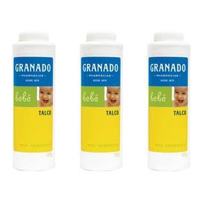 Granado Bebê Talco Infantil 100g - Kit com 03