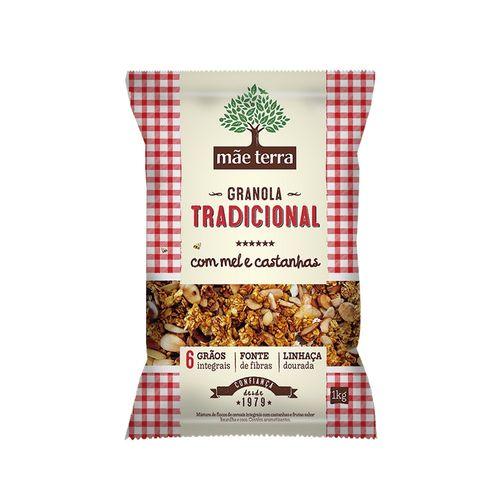 Granola Tradicional com Mel Castanhas Mãe Terra 1kg