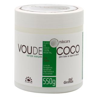 Tudo sobre 'Griffus Vou de Coco - Máscara de Tratamento 550g'