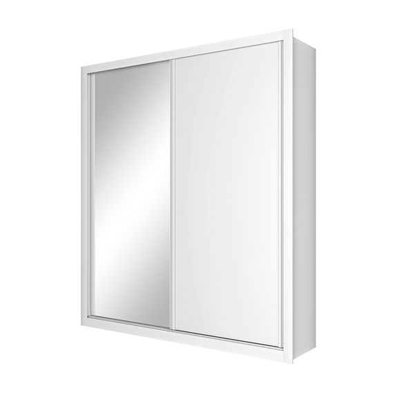 Tudo sobre 'Guarda Roupa Solteiro Madrid 2 Portas com Espelho - Branco'