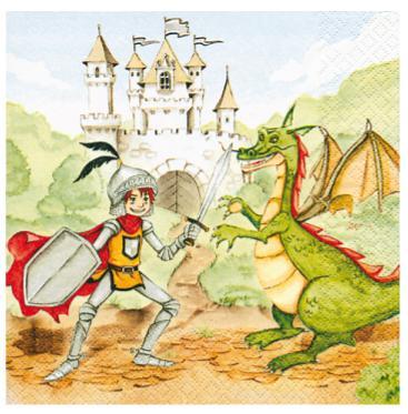 Guardanapo Decoupage Príncipe e Dragão 2 Unidades GCD211378 - Toke e Crie