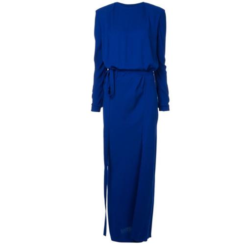 Haider Ackermann Vestido Longo Slim - Azul
