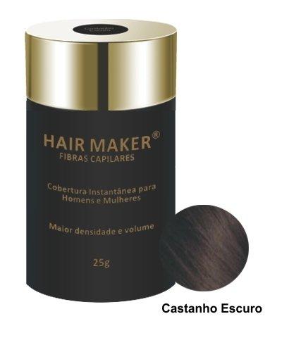Tudo sobre 'Hair Maker Fibras Capilares 25 Gramas - Cor: Castanho Escuro'