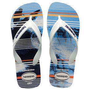 Havaianas Unissex Surf - Branca/Azul - Tamanho 39/40 - Branco/Azul Marinho