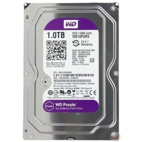 Hd 1.0 Tb Rpm Sata Iii 64mb Western Digital Purple Wd10purx