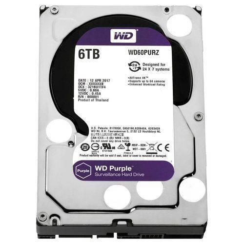 HD 6tb Sata Iii Western Digital Purple