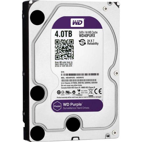 HD Interno 4tb Western Digital Purple Wd40purx