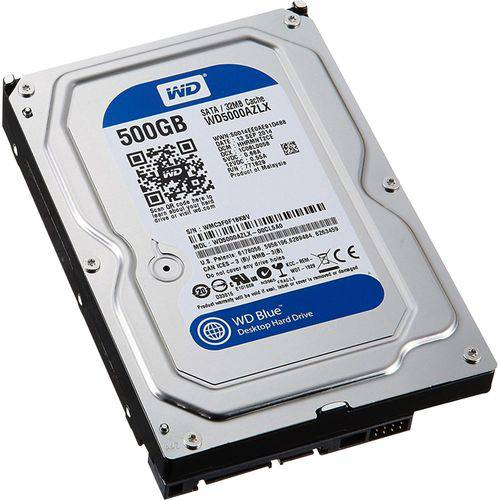 "Tudo sobre 'HD Interno Sata 3,5"" 500gb Sata Iii 7200 Rpm Blue Western Digital'"