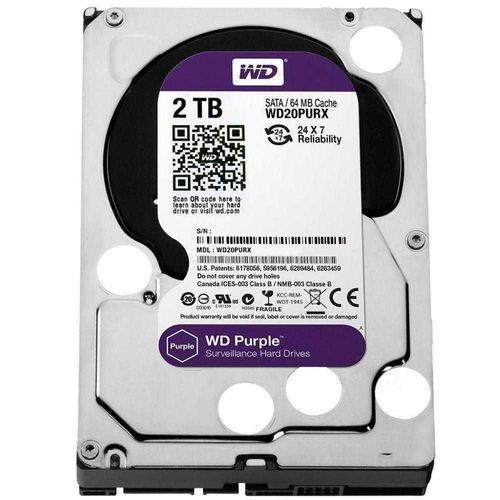 HD Interno 2TB Western Digital WD20Purz Sata III Purple