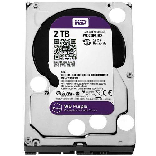 Tudo sobre 'Hd Interno Wd Purple 2 Tb Sata 6gb/S 7200 Rpm para Vigilância/Dvr Wd20purx'