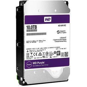 HD Interno WD (Western Digital) Purple 10 TB SATA 6Gb/s 5400 RPM WD100PURZ