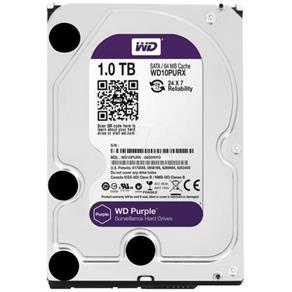 HD Interno Western Digital Purple 1TB SATA III 7200RPM 64MB - WD10PURX (Para Vigilância)