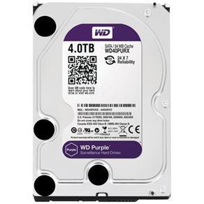 HD Interno Western Digital Purple 4TB SATA III 7200RPM 64MB WD40PURX (Para Vigilância)