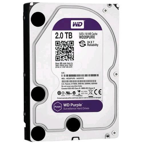 HD Interno Western Digital Purple 2TB - WD20PURX