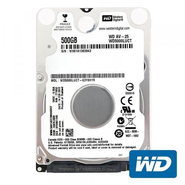 Tudo sobre 'Hd Sata Notebook 500gb Western Digital'
