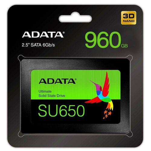 Tudo sobre 'HD SSD Adata 960Gb Sata 3 6gb/s SU650 Ultimate | ASU650SS-960GT-R 2624'