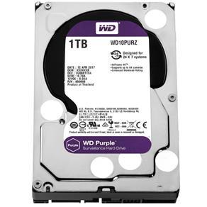 HD WD SATA 3,5 Purple Surveillance 1TB IntelliPower 64MB Cache SATA 6.0Gb/s WD10PURZ