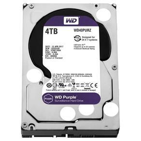 HD WD Western SATA 3,5´ Purple Surveillance 4TB IntelliPower 64MB Cache SATA 6.0Gb/s - WD40PURZ