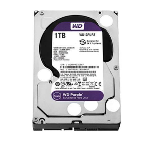 Hdd Wd Purple 1 Tb para Seguranca Vigilancia Dvr - Wd10purz
