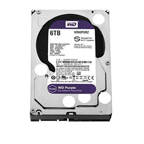 Hdd Wd *purple* 6 Tb para Seguranca / Vigilancia / Dvr - Wd60purz