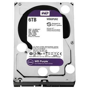 HDD WD Purple 6TB para Segurança WD60PURZ