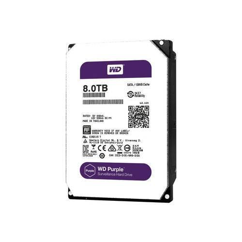 Hdd Wd *purple* 8 Tb para Seguranca / Vigilancia / Dvr - Wd80purz