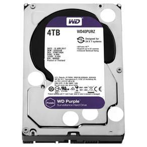 Hdd Wd Purple 4Tb para Segurança Wd40Purz