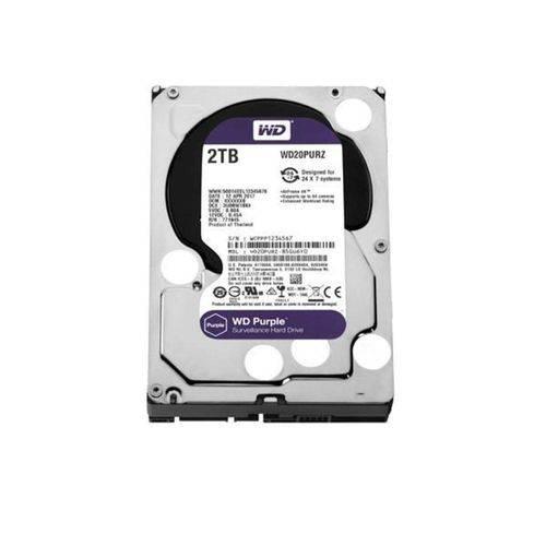 Hdd Wd *purple* 2tb- para Seguranca/vigilancia/dvr - Wd20purz