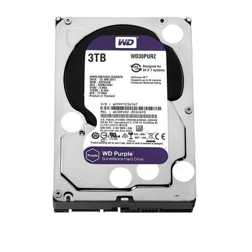 Hdd Wd *purple* 3 Tb para Seguranca / Vigilancia / Dvr - Wd30purz