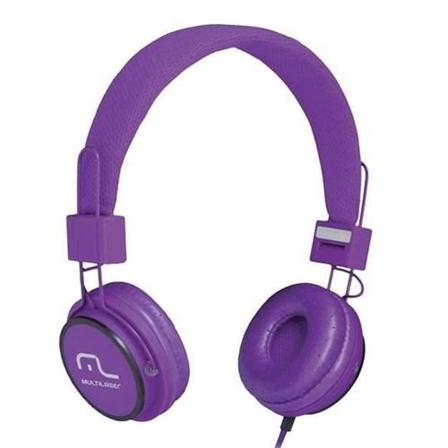 Headphone Head Fun com Microfone P2 3,5Mm Hi-Fi Ph090 Roxo